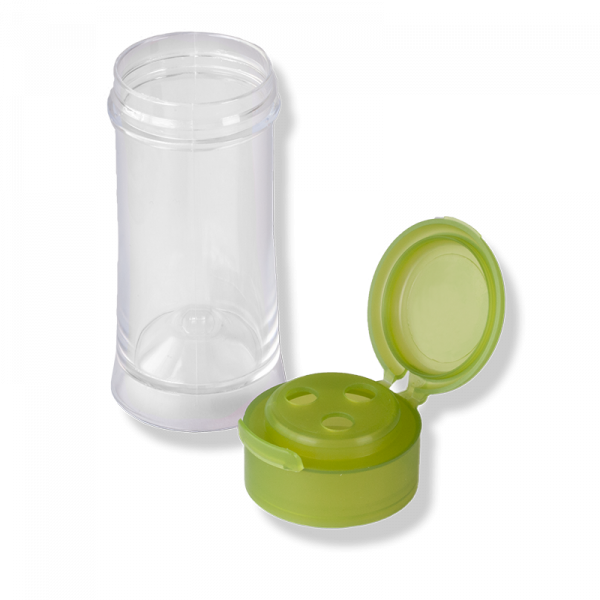TR-41 (BN) Pressure Jar With Green 3 Holes Flip Top Cap - Anfra Packaging
