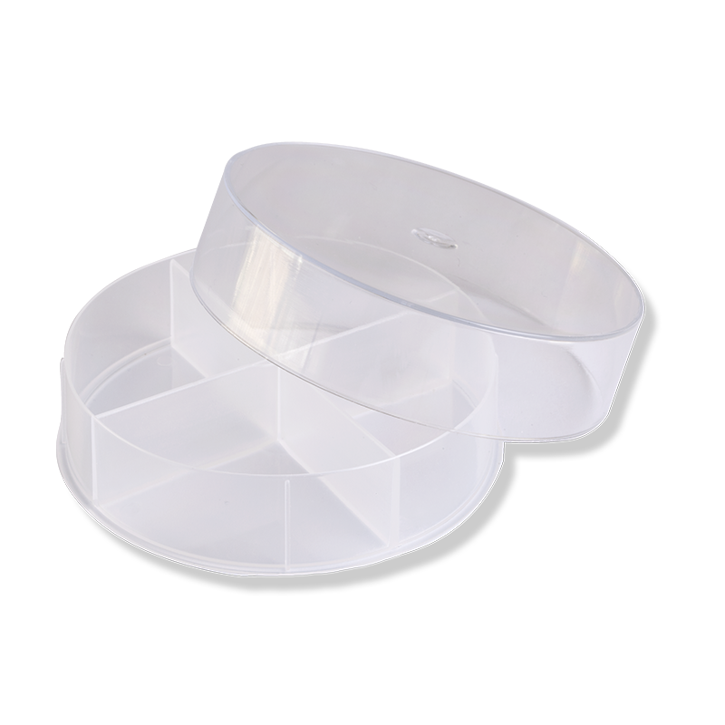 80mm 4 Cavity Round Box  With Translucent Base - Anfra Packaging