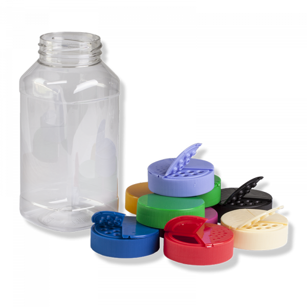1000ml Square PET Jar, 63mm TWF Finish - Anfra Packaging