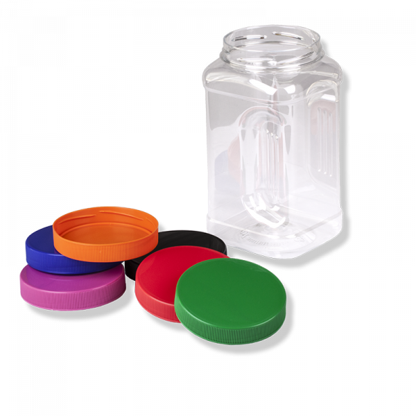 "1500ml Square PET Jar ""ANFRA"" , 89mm TWF Finish - Anfra Packaging"