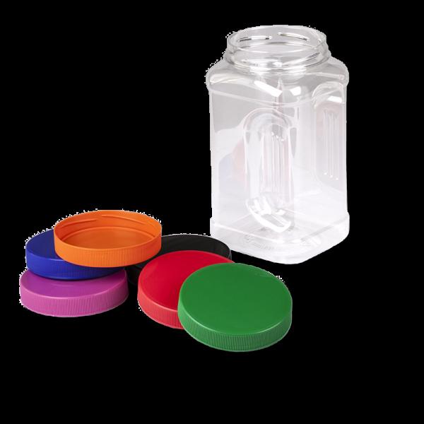 Pot Plastique PET Carré «ANFRA» 1500 Ml, Bague 89 TWF - Anfra Packaging