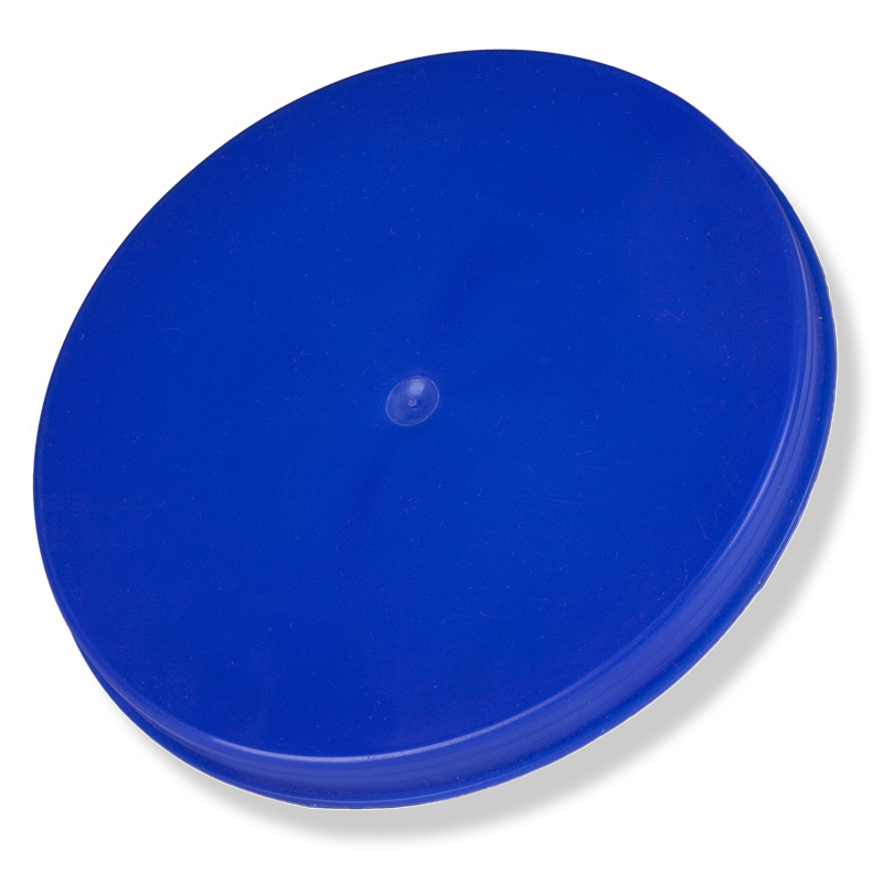 100mm Blue Plastic Inner Overcap - Anfra Packaging