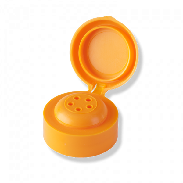1 Hole Flip Top Orange Cap For Private Label - Anfra Packaging