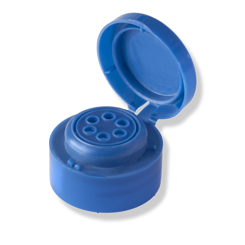 6 Hole Flip Top Blue Cap For Private Label - Anfra Packaging