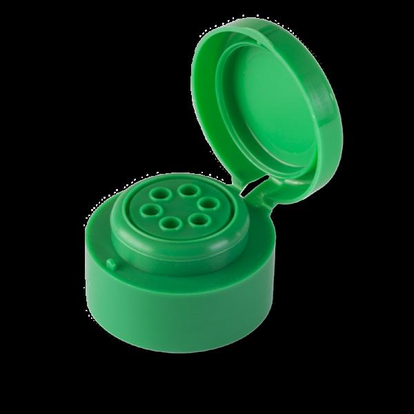 Tapa Flip Flop 6 Agujeros Verde marca blanca - Anfra Packaging