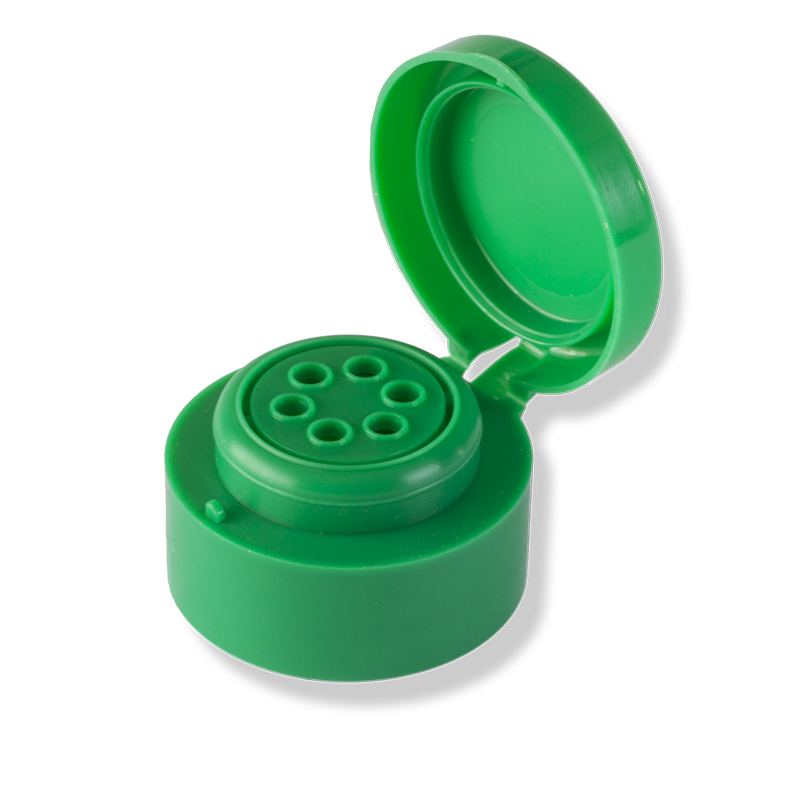6 Hole Flip Top Green Cap For Private Label - Anfra Packaging