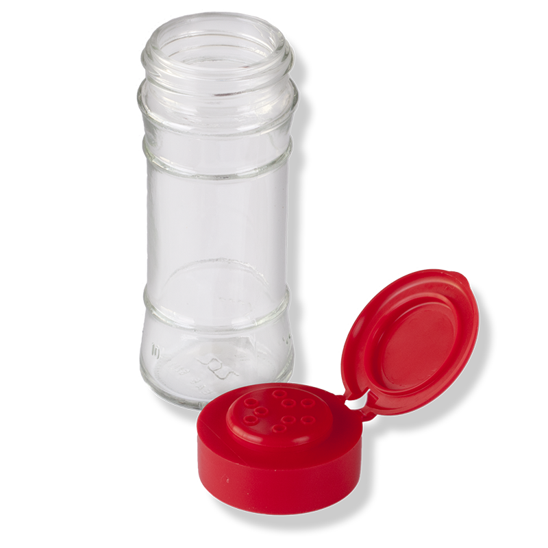 9 Holes Flip Top Red Cap - Anfra Packaging
