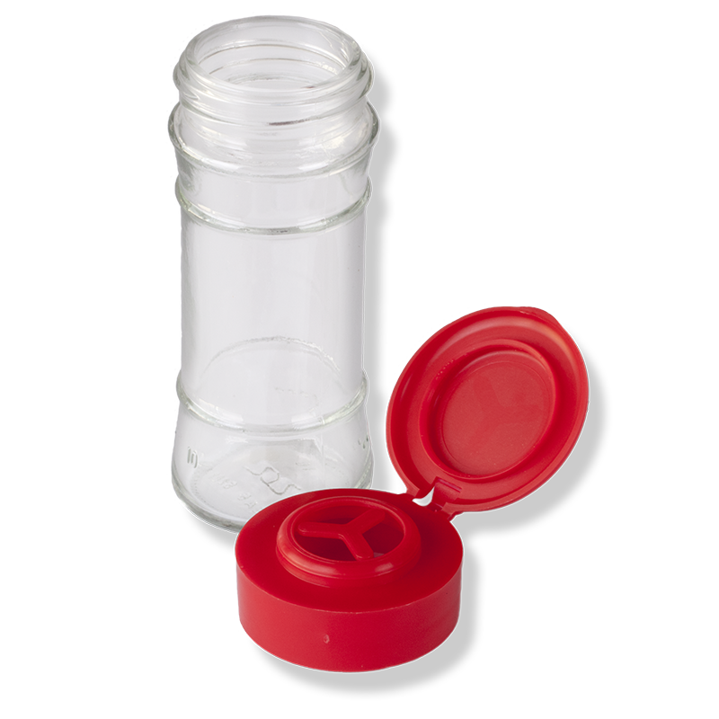 Flip Top Red Cap For Herbs and Grain - Anfra Packaging