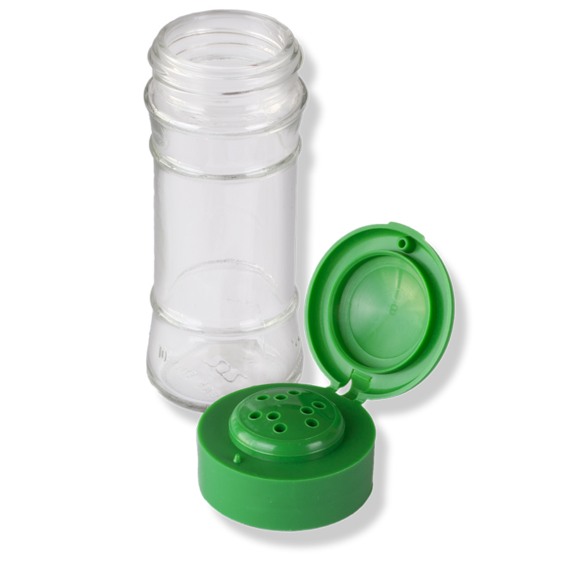 ANFRA All-porpouse 9 Holes Flip Top Green Cap - Anfra Packaging
