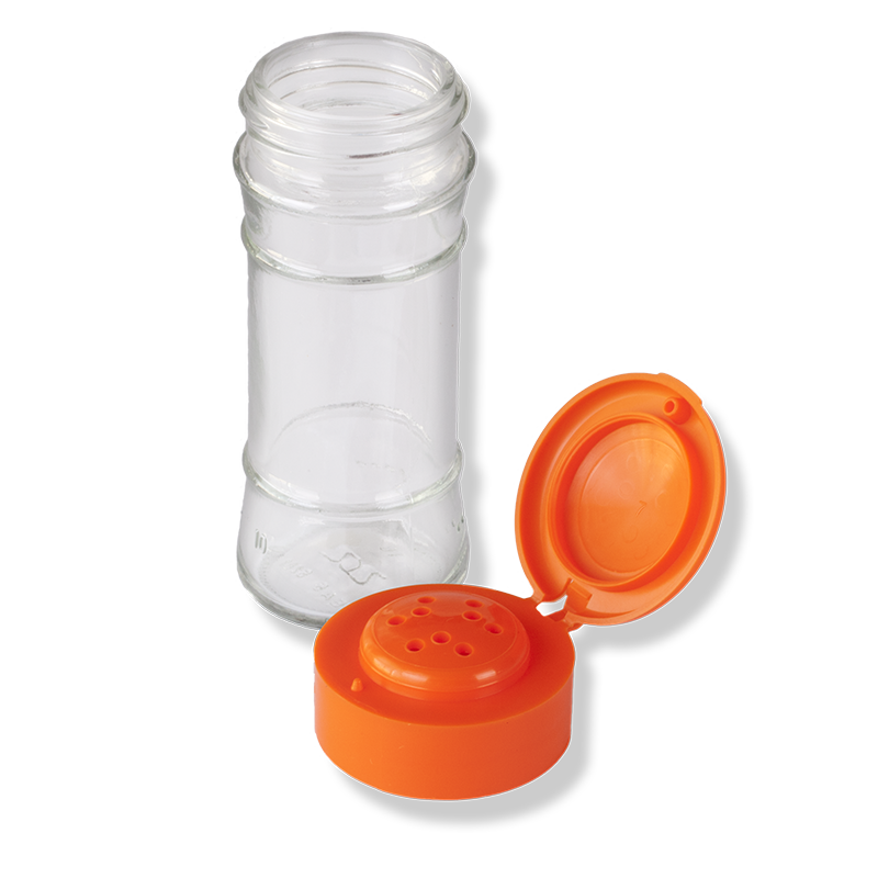 ANFRA All-porpouse 9 Holes Flip Top Orange Cap - Anfra Packaging