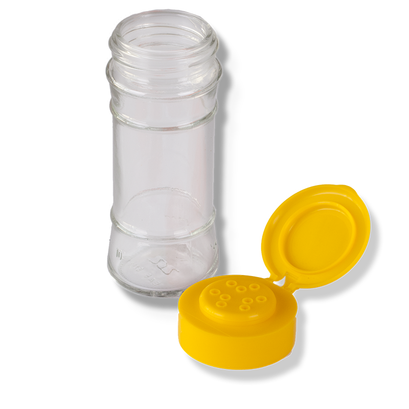 9 Holes Yellow Flip Top Cap - Anfra Packaging