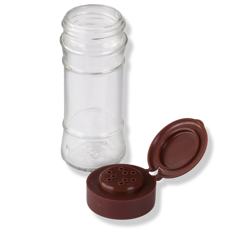 9 Holes Brown Flip Top Cap - Anfra Packaging