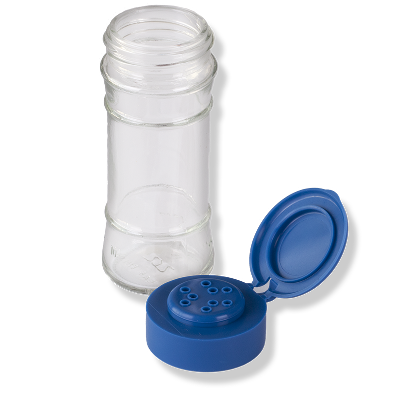 9 Holes Blue Flip Top Cap - Anfra Packaging