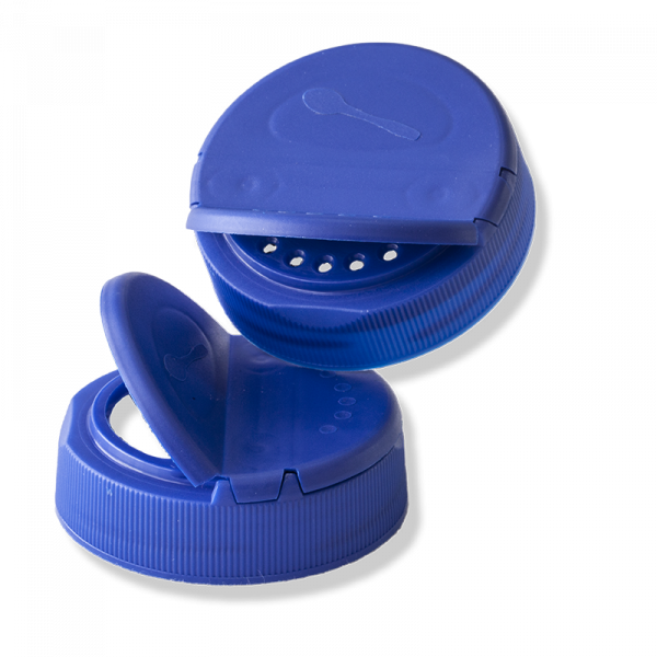 Conjunto Tapa Doble Vertedor 58mm Twist-Off Azul - Anfra Packaging