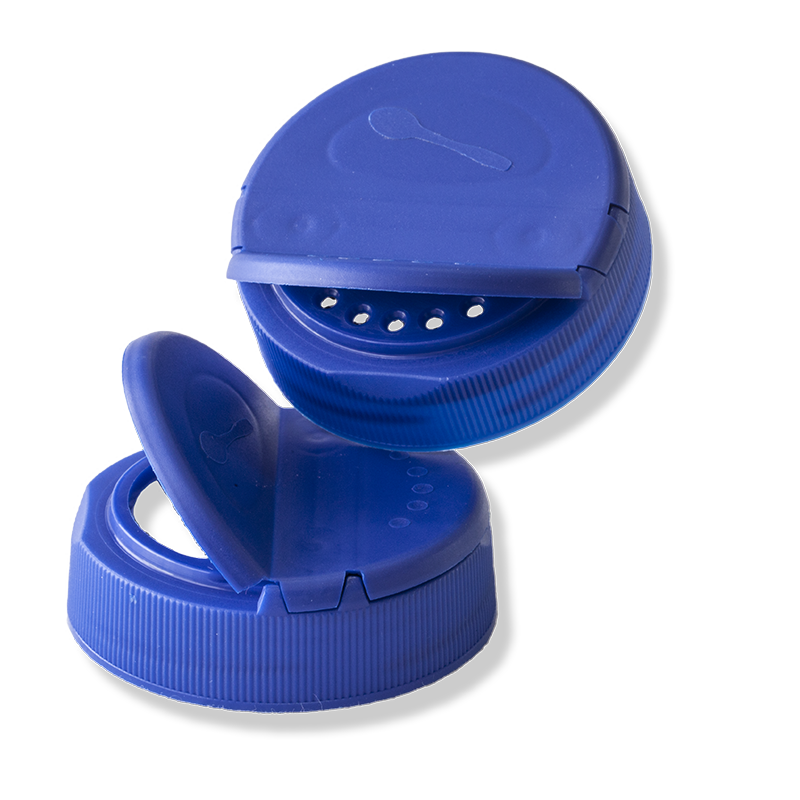 58mm Blue Twist Off Dual Flapper Cap - Anfra Packaging