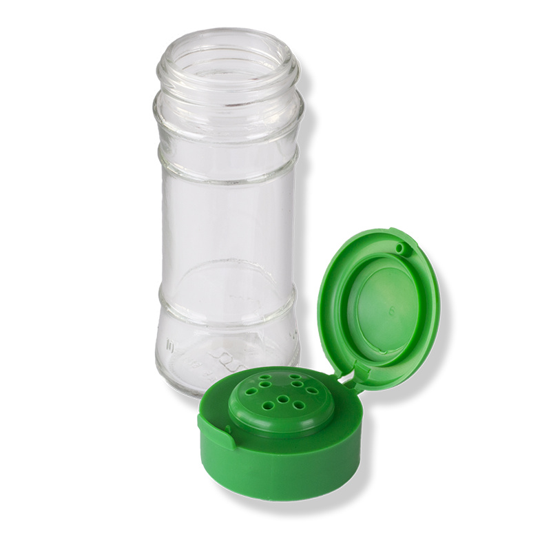 ANFRA All-porpouse 9 Holes Flip Top Green Cap With Seal - Anfra Packaging
