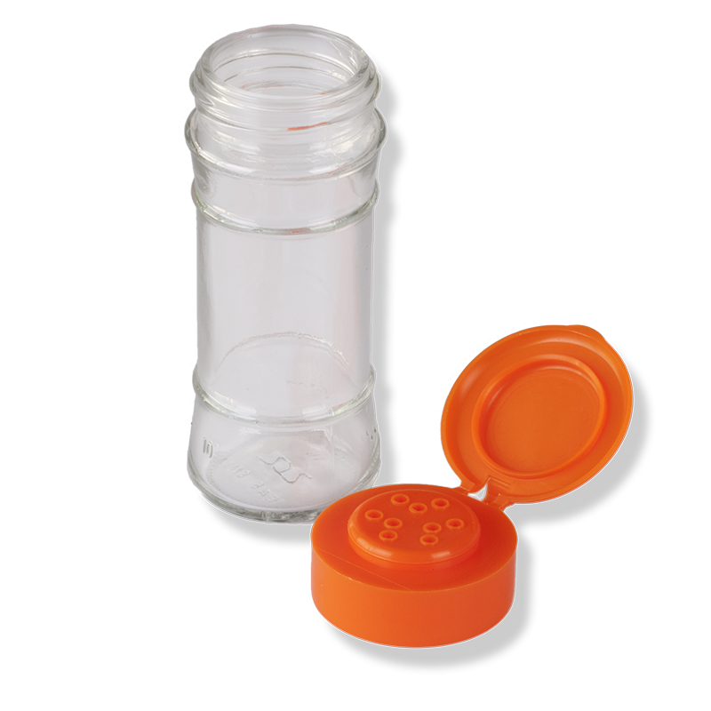 9 Holes Orange Flip Top Cap - Anfra Packaging