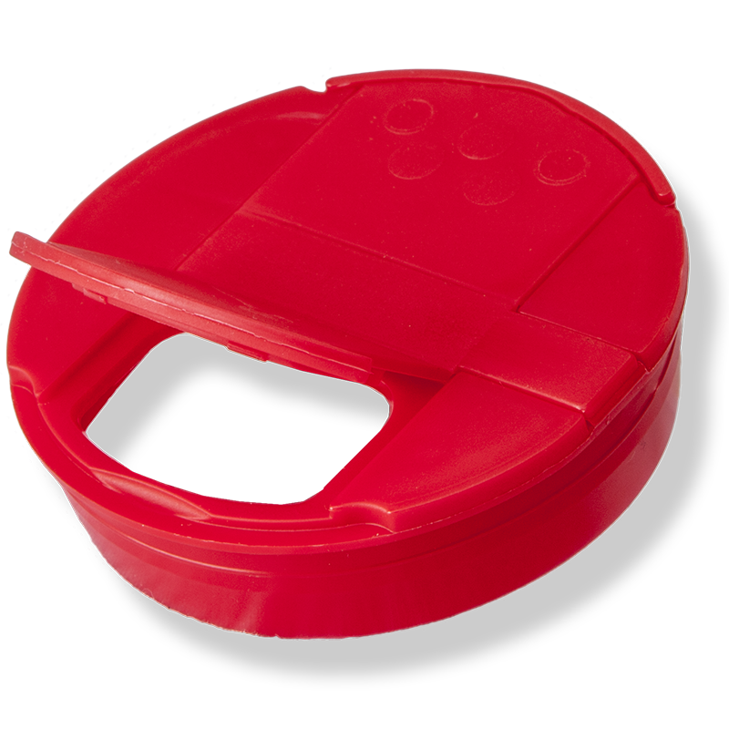 53mm Red Pressure Cap – 6 Holes Shutter - Anfra Packaging
