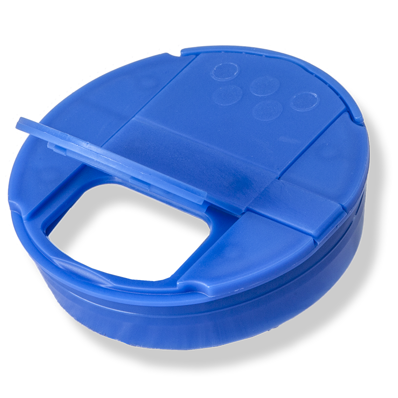 53mm Blue Pressure Cap – 6 Holes Shutter - Anfra Packaging