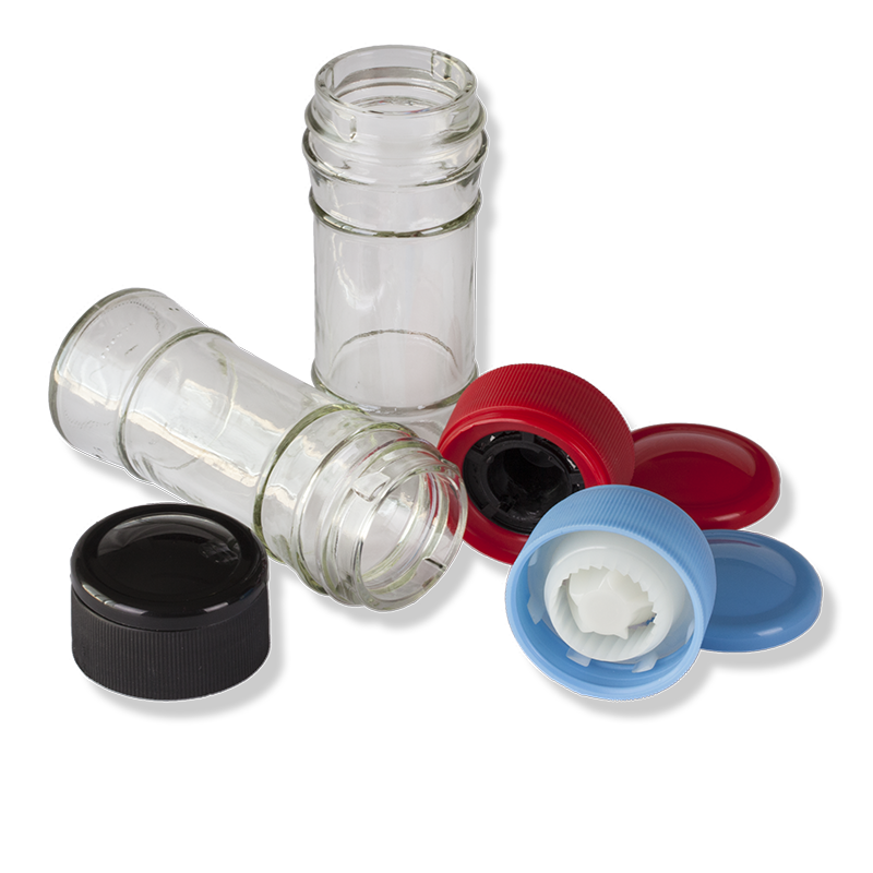 ANFRA Glass Jar For Grinder Cap - Anfra Packaging