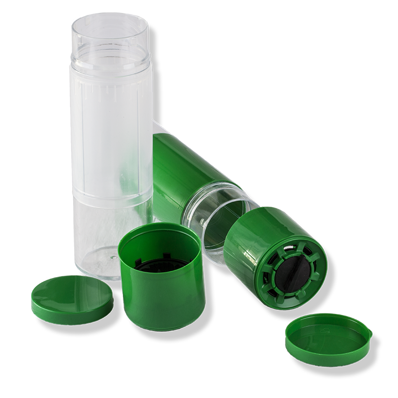 250ml Adjustable Catering Grinder Set, Green Cap - Anfra Packaging