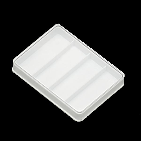 Boîte de safran 3 cavités avec fond blanc - Anfra Packaging