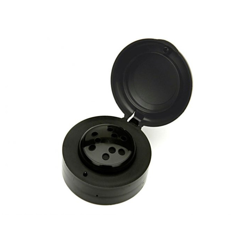 ANFRA All-porpouse 9 Holes Flip Top Black Cap - Anfra Packaging